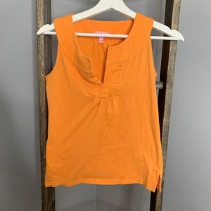 Lilly Pulitzer Peach Orange Tank Top